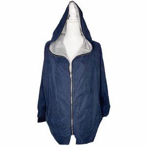 CUPSHE Soft Sueded Light Windbreaker Hooded Jacket
